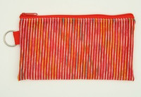 Stripe TRV red mix cosmetic bag