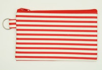 Stripe H red mix cosmetic bag