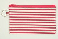 Stripe H pink mix cosmetic bag