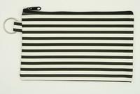 Stripe H black mix cosmetic bag