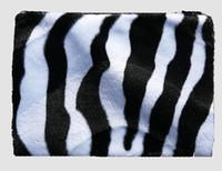 Zebra black-white fluffy cosmetic bag