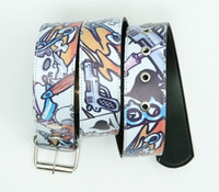 Gun skull card white skull belt