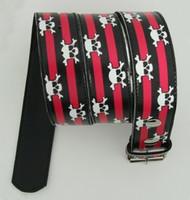 Skull stripe pink skull belt