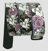 Skull rose black-purple skull belt