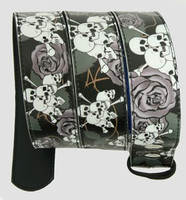 Skull rose black-grey skull belt