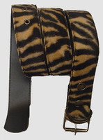 Zebra brown belt fluffy belt