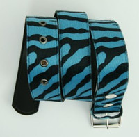 Zebra blue belt fluffy belt