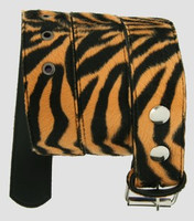 Zebra orange belt fluffy belt