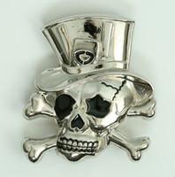 Skull hat card medium buckle