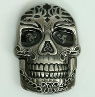 Skull tribal smile medium buckle