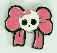 Skull big lace pink medium buckle