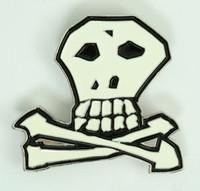 Skull bone white medium buckle