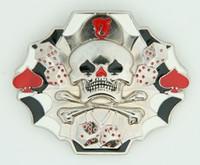 Skull ace dices medium buckle
