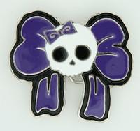 Skull big lace purple medium buckle