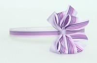 Stripe purple medium bow
