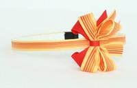 Stripe oranje medium bow