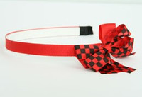 Check red / black-red medium bow