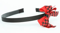 Check black / black-red medium bow