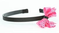 Dot thin black / pink-black medium bow
