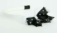 Dot white / black-white medium bow