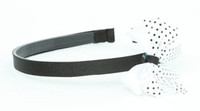 Dot thin black / white-black medium bow