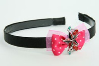 Pink / star cherry black-red dark pink bow & mix
