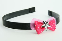 Pink / star black-white dark pink bow & mix