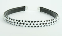 Metal star white-black medium tiara