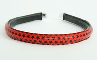 Metal star red-black medium tiara