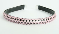 Metal star pink-black medium tiara