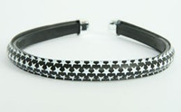 Metal star black-white medium tiara