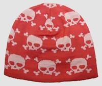 Skulls pink skull beanie