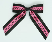Star S black / pink-black star hair clips piece