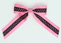 Star S pink / black-pink star hair clips piece