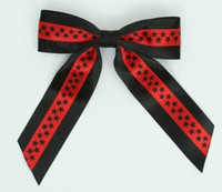 Star S black / red-black star hair clips piece