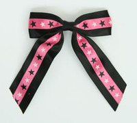 Star BS black / pink-black-white star hair clips piece