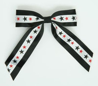 Star BS black/ white-black-red star hair clips piece