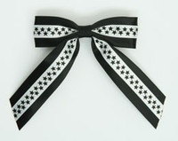 Star S black / white-black star hair clips piece