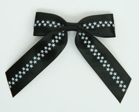 Star S black / black-white star hair clips piece