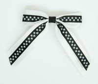 Star S white / black-white star hair clips piece