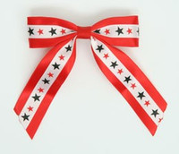 Star BS red / white-black-red star hair clips piece