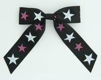 Star B black-white-pink star hair clips piece