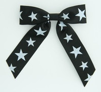 Star B black-white star hair clips piece