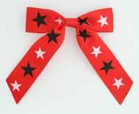 Star B red-black-white star hair clips piece