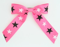 Star B pink-black-white star hair clips piece