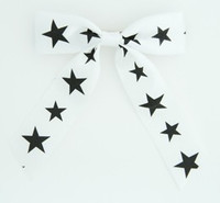 Star B white-black star hair clips piece