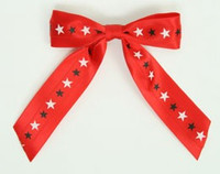 Star BS red  / red-white-black / red star hair clips piece