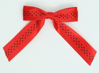 Dot red / red-black dot hair clips piece