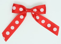 Dot big red / red-white dot hair clips piece