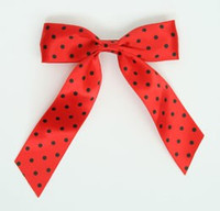 Dot full red-black dot hair clips piece
